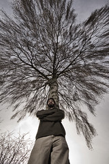 Day 76 (Michael Rozycki) Tags: portrait sky tree up self project legs personal wide 365