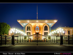 Muscat - Al-Alam Palace at Blue Hour (Beauty Eye) Tags: city longexposure nightphotography sea seascape building green eye architecture night photoshop canon dark landscape boats eos rebel landscapes long exposure day seascapes nightshot outdoor royal scene palace adobe bluehour om tamron oman muscat royale royalpalace 2012 alam lightroom t3i mct cameraraw parisopera ultrawideangle    f3545 600d   beautyeye masqat 1024mm  canon600d   tamronspaf1024mmf3545diiild rebelt3i kissx5 diiild canon600deos oman omanomancountry tamronspaf1024mmf3545d omanevents muscatalalampalace