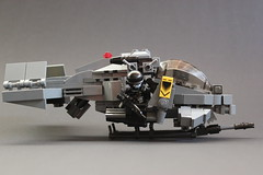 "DARKWATER ""Air Shark"" Gunship (✠Andreas) Tags: lego aircraft darkwater gunship airvehicle legovtol legogunship vtolgunship"