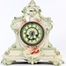232. 19th Century Porcelain Mantle Clock, with key