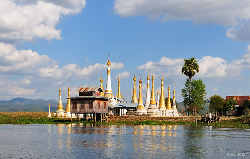 Stupas at the Inle lake