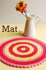 Doily & Mat Series: Mat #1 (Sewing Daisies) Tags: japanese pattern handmade crochet doily tablemat