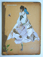 The First Butterfly To Be Seen (Katie McCann) Tags: blue white art collage vintage recycled bookcover lepidopterology upcycled