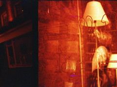 IMG_0035 (spoeker) Tags: uk red england rot london analog 35mm lomo lca lomography double multipleexposure analogue mx kb xr doppelbelichtung redscale mehrfachbelichtung