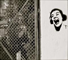untitled #22 (Dabhaidh Harris) Tags: barcelona music white david black blanco face dave fence photography graffiti blackwhite cara sing scream musica headphones harris fotografia negre auriculares cante gritar dabhaidh daveharris75hotmailcom daveharris75gmailcom