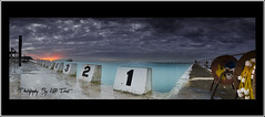 Merewether-Baths-Panoramic (Kiall Frost) Tags: ocean panorama seascape water pool swimming sunrise newcastle landscape frost pano australia frosty panoramic baths nsw blocks merewether kiall