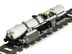 "Racing Locomotive ""White Thunder"" (aillery) Tags: white train lego engine racing steam stan locomotive thunder mott select steampunk"