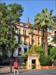 Sevilla : Hotel Alfonso XIII  - 4/8 (Pantchoa) Tags: espaa architecture hotel sevilla andaluca spain arquitectura nikon entrance seville entrada andalusia hotelalfonsoxiii d90 alfonsoxii capturenx2 viewnx2