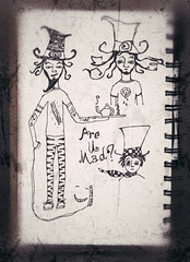mad hatter (heathermariecarr) Tags: pen drawing sketchbook doodle sketches madhatter 2012 aliceinwonderland heathercarr