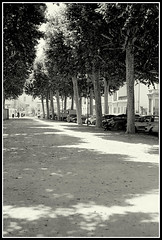 Walking to the Station (mikeinlagardette) Tags: travel france 120 monochrome architecture buildings kodak thorntons trains 200asa tourist american push 6x9 jpg allier railways folder auvergne stations yellowfilter 620 rollfilm foldingcamera conversions montlucon centralfrance shanghaigp3 anaston lessthan10 twobath epsonv500 buildingsobserved gupr 8on120 620cd12