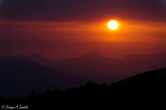 "Sunset in ""La Garrotxa"" (hunter of moments) Tags: travel sunset red sky orange sun color art luz sol nikon catalonia cielo catalunya puestadesol garrotxa d5000 tallerfotografico"