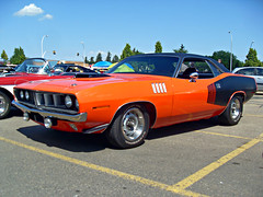 Mopar or No Car (blondygirl) Tags: auto car 1971 plymouth mopar barracuda july8 plymouthbarracuda showshine mainstreetcruisers bonniedoonmall mainstreetcruisersannual