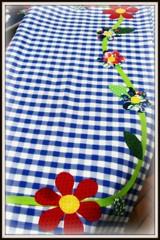 Colorida Quinta Flower pra voc! (Joana Joaninha) Tags: flores minasgerais de amor carinho felicidade amizade toalha mesa ateli aplicao joanajoaninha