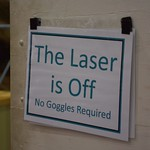 The Laser is Off (No Goggles Required)