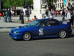 Subaru (kenjonbro) Tags: england london westminster subaru 29 charingcross sw1 classiccarrally kenjonbro fujifilmfinepixhs10 millonmarathon2012 mfrashina msalvisberg driveweartransitions