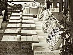 tables in a row (WITHIN the FRAME Photography(5 Million views tha) Tags: sepia patterns textures tables seating setting eos7d