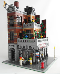 Terrace Apartment 4 (Myko-) Tags: city newyork hair apartments lego barbershop modularbuilding eurobricks