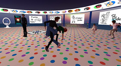 Bay City RFL Art Show 3 (Holocluck Henly) Tags: world life cartoon second rfl relayforlife holodoc holocluck sl9b