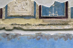Painted Garden, Villa of Livia, detail with coffer fragments