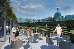 Proposed new roof garden café terrace