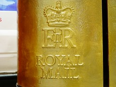 GOLD POST BOX (JOHN19701970) Tags: gold post mail box champion august medal winner boxer royalmail olympic boxing olympics hertfordshire watford 2012 london2012 teamgb anthonyjoshua goldpostbox