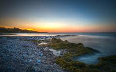 Bülk Sunset (svenpetersen1965) Tags: longexposure sunset sea sky seaweed dusk sunny baltic clear hdr kiel nd64 3px bülk