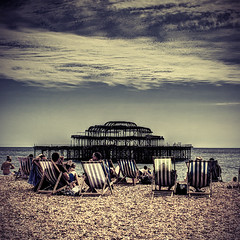 Oh! I Do Like To Be Beside The Seaside (violinconcertono3) Tags: summer beach landscapes brighton flickr fineart cityscapes westpier deckchairs fineartphotography davidhenderson fineartphotographer londonphotographer 19sixty3 19sixty3com