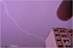Ride the Lightning (Behzad No) Tags: lighting sky night long alone shot nikond90 behzadno