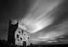 Donington....... (Digital Diary........) Tags: longexposure blackandwhite bw clouds movement mood le streaks berkshire newbury donington goodlight weldingglass doningtoncastle