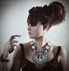 Soutache by Yulia Logvinova. (jullery) Tags: white black fashion snake jewelry jewellery accessories fashionable fashionjewelry   fashionjewellery jewelrydesign  singlecopy jullery soutache yulialogvinova