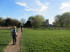 UK - Essex - Waltham Abbey - Walking towards Waltham Abbey Church (JulesFoto) Tags: uk england walking essex ramblers walthamabbey capitalwalkers