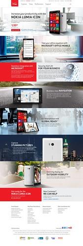 Nokia Lumia Icon Landing Page