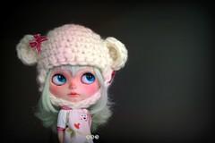 a cuddly teddy with minty hair