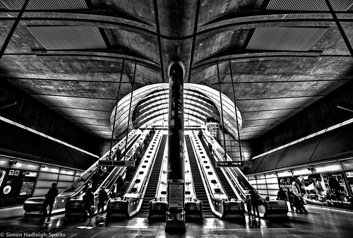 """If you don't know where you are going any road can take you there"" - Canary Wharf Underground London (1 of 5) by Simon Hadleigh-Sparks (On Explore 22nd April 2014)"