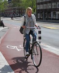 Amsterdam Rivierenbuurt Scheldestraat bike blonde (GeRiviera) Tags: netherlands girl dutch amsterdam bike candid nederland fiets zuid noordholland rivierenbuurt scheldestraat