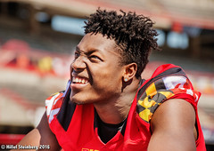 Maryland_White_on_Red_20160416_1287.jpg (hillels) Tags: park game college sports field sport photography one football spring team dj outdoor stadium maryland capitol practice terps byrd durkin collegepark testudo byrdstadium terp capitolonefield djdurkin