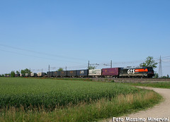 E483.051 GTS Rail (Massimo Minervini) Tags: rail tcs piacenza railroads ferrovia traxx fiorenzuola canon400d e483 gtsrail lineamilanobologna e483gts e483051 ferroviaprivata