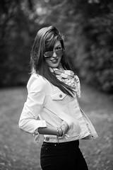 Black and white portrait : Woman : Canon 5D MKII : 70 200 F4 L USM (Benjamin Ballande) Tags: portrait woman white black canon 200 l 5d usm 70 f4 mkii bestportraitsaoi