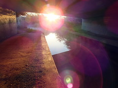 Concrete Beauty (Droitwich Dwellers) Tags: bridge sun water sunshine yellow underpass concrete canal warm may warmth worcestershire droitwich worcs thegoldenhour droitwichspa salwarpe