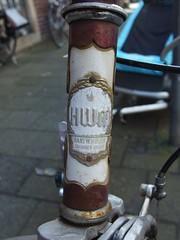 HWM (mkorsakov) Tags: city detail bike bicycle logo retro typo fahrrad mnster hwm innenstadt wappen