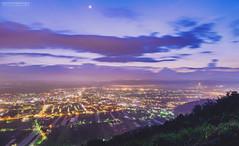(M.K. Design) Tags: city longexposure sunset nature landscape lights nikon scenery taiwan  nightview    ultrawide  hdr  township puli     nantou  2016 nightimage               d800e fireofclouds