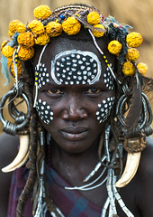Mursi tribe woman with adornments and tribal make up, Omo valley, Mago park, Ethiopia (Eric Lafforgue) Tags: africa portrait people color fruits face vertical outdoors women paint day african painted ivory culture makeup jewelry tribal headshot bodypaint ornament ornaments omovalley earrings bodypainting tradition ethiopia tribe mursi oneperson jewel garnish decorated tusk hornofafrica ethiopian eastafrica abyssinia realpeople adornments lookingatcamera africanethnicity 1people mursitribe animalteeth hippoteeth murzu magopark enlargedearlobe enlargedear ethio162217