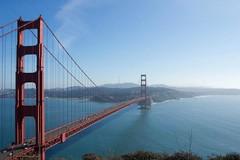Golden Gate Bridge, San Francisco (PrettyHungry) Tags: ocean sanfrancisco california city travel bridge engineering landmark icon goldengatebridge goldengate westcoast iconic
