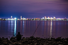 Fishing (Evan's Life Through The Lens) Tags: camera city blue friends light summer vacation sky orange color glass beautiful night clouds vintage lens fun long exposure day purple minolta vibrant sony adventure explore saturation 2016 a7s