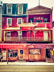 Chinatown architecture (BlogKing) Tags: red chinatown balcony philly