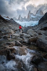 Explorer | Mount Fitz Roy, Patagonia (v on life) Tags: cerrofitzroy montefitzroy mountfitzroy patagonia argentina winter snow glacier waterfall vertical clouds cloudy mountains peaks elchaltn southernandesmountains