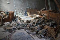 79 - Prypyat School Boxes of Gas Masks - Chernobyl (Craig Hannah) Tags: school abandoned decay ukraine disaster 1986 derelict zone gasmasks 2016 exclusionzone restrictedzone prypyat nucleardisaster derelectbuilding hazardousarea zoneofalienation 30kilometrezone radioactivecontamination craighannah