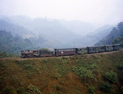 Loco C2-14  |  Jiaoba, Shibanxi China  |  2009 (keithwilde152) Tags: china train landscape countryside steam hills passenger sichuan 2009 embankment locomotives c214 shibanxi jiaoba