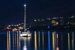Summer nights (Vagelis Pikoulas) Tags: light sea summer june night canon landscape lights boat europe nightscape greece porto tamron vc 6d 70200mm 2016 germeno