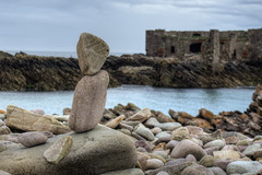 Rock stacking (neilalderney123) Tags: water stone for bay rocks olympus alderney rockstacking alliteration 2016neilhoward